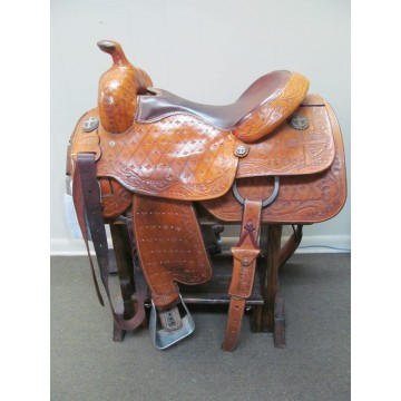 """Koen 16"""" Western Reining/Cutting Saddle"""