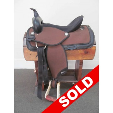 """Abetta 16"""" Synthetic Western Saddle - SOLD!"""
