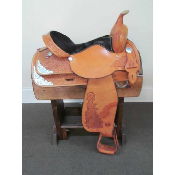 """Circle Y 16"""" Western Show Saddle w/Breastcollar"""