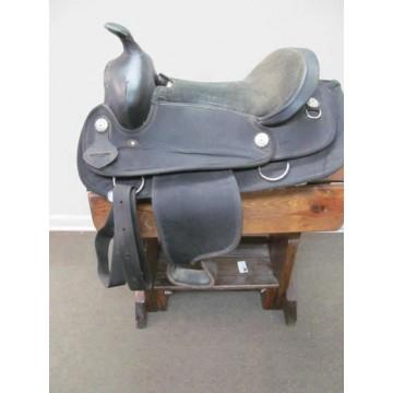 """Black 16"""" Synthetic Western Saddle"""