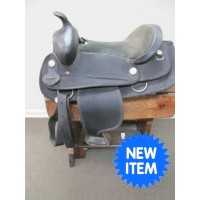 "Black 16"" Synthetic Western Saddle"