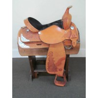"Circle Y 16"" Western Show Saddle w/Breastcollar"