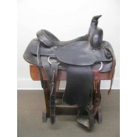 "Circle M Black 16"" Roping Saddle"