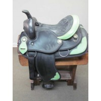 "Weaver Lime Green & Black 14"" Barrel Saddle"