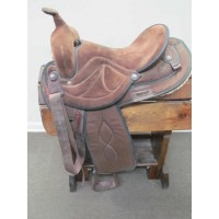 "Big Horn 15"" Brown Synthic Western Saddle"