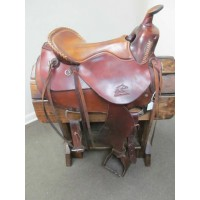 "Synergist Saddles Custom 15"" Western Trail Saddle"